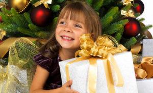 dziewczynka prezent